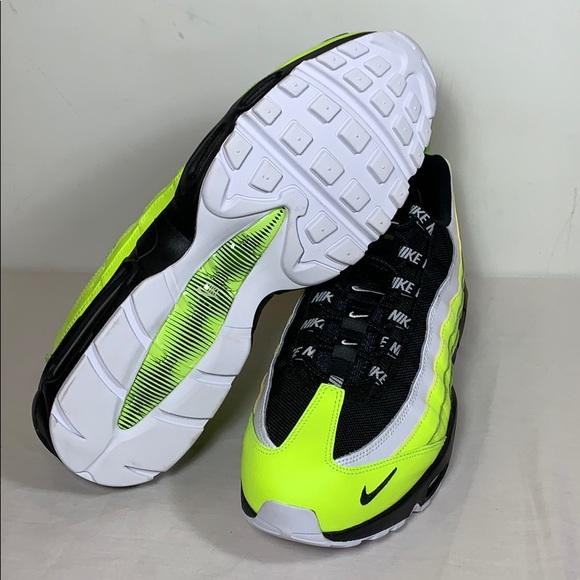 Nike Air Max 95 Premium Volt Glow Black Sz. 13